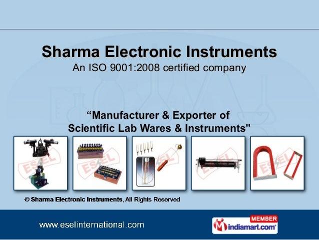 Sharma Electronic Instruments Punjab India