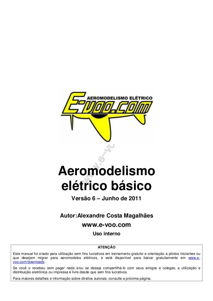 Aeromodelismo                            elétrico básico                                     Versão 6 – Junho de 2011     ...