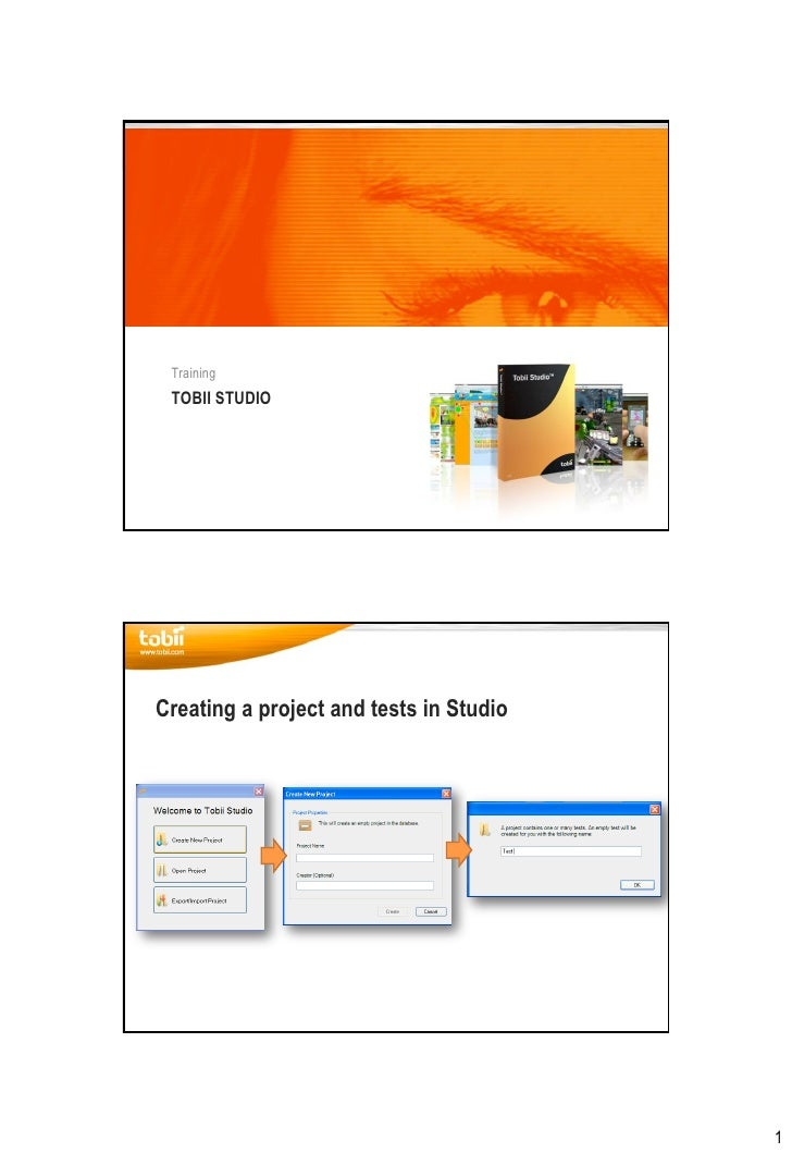 Tobii Studio Quick Start Guide