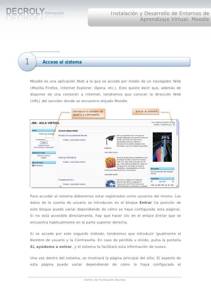 Instalación y Desarrollo de Entornos de                                                                   Aprendizaje Virt...