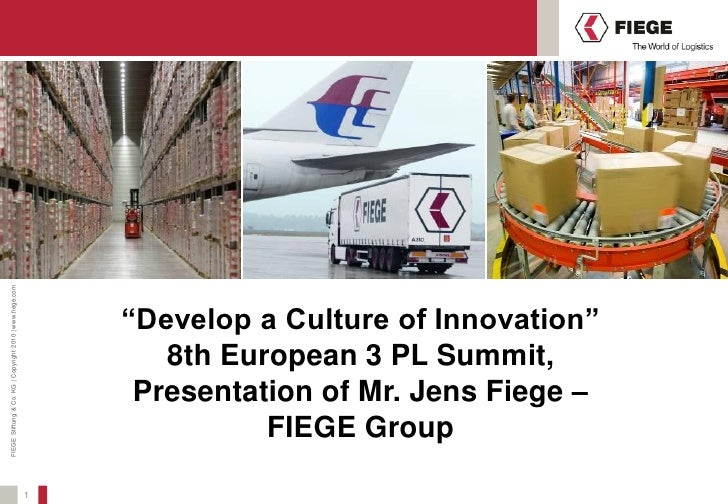 """""""Develop a Culture of Innovation"""" Jens Fiege, MD, FIEGE Logistics & CEO Germany West & South, Member of the Board FIEGE Group"""