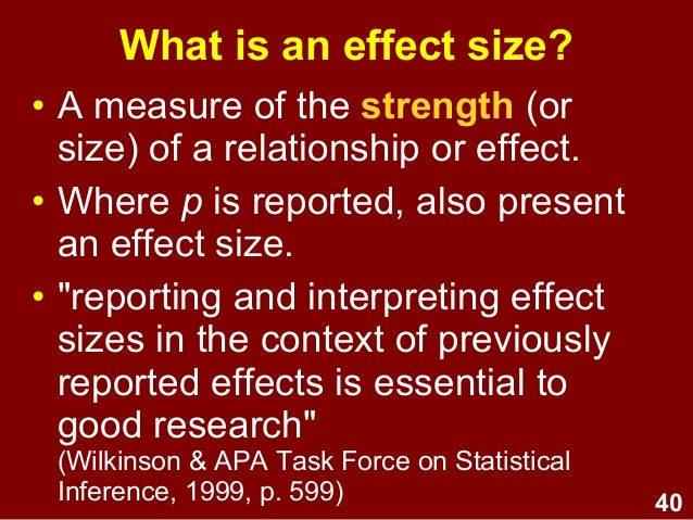 power effect sizes confidence intervals amp academic