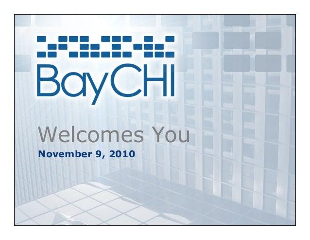 Welcomes You November 9, 2010