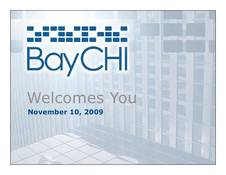 Welcomes You November 10, 2009