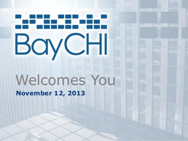 Welcomes You November 12, 2013