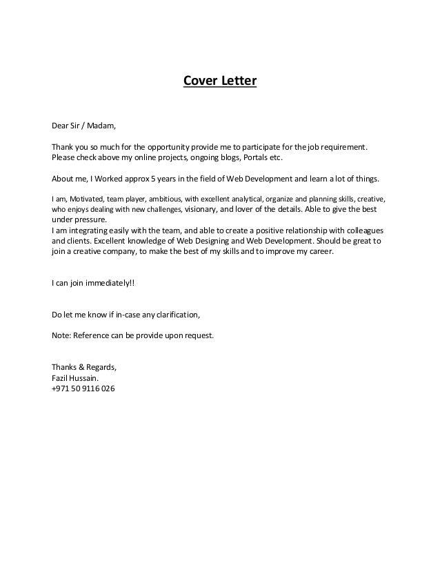 senior web developer cover letter  web developer cover letter    fazilhussainweb developer   cover letter