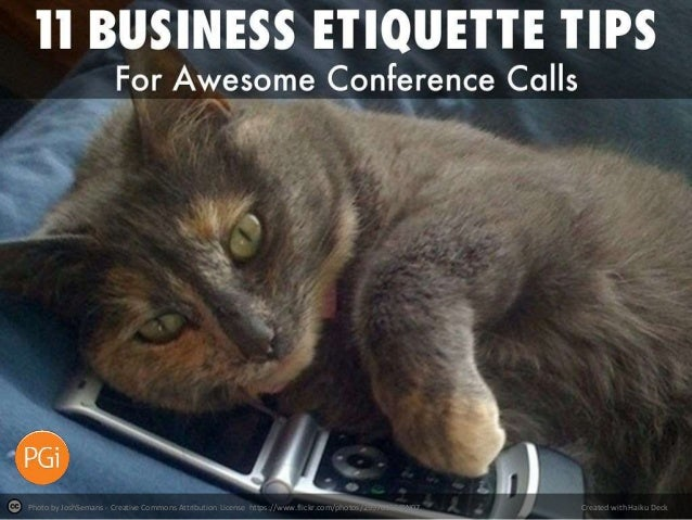 11 Business Etiquette Tips for Awesome Conference Calls | PGi
