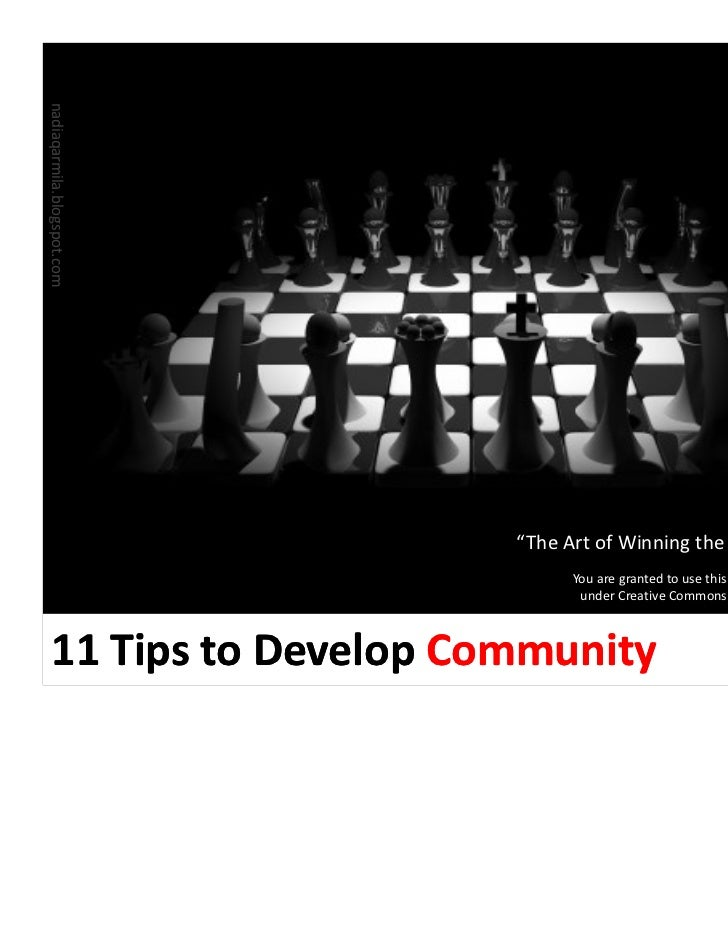 11 Tips to Develop Community