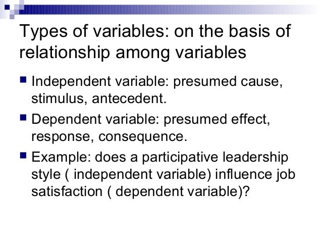 what is variables in research methodology