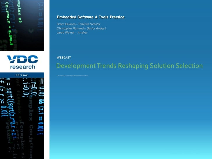 Development Trends Reshaping Solution Selection
