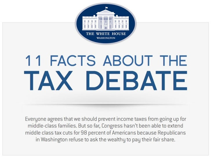 11 Facts about the Tax Debate - @whitehouse #tax #debate