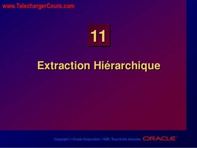 Copyright Oracle Corporation, 1998. Tous droits réservés. 11 Extraction Hiérarchique www.TelechargerCours.com