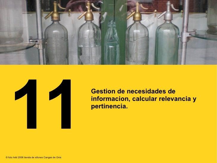 11 Gestion De Necesidades De Informacion, Calcular Relevancia Y Pertinencia