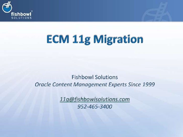 11g Upgrade and Migration Presentation at Chicago User Group