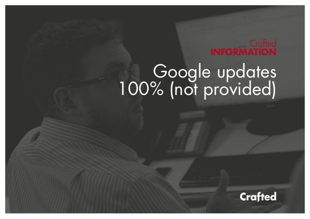 Crafted INFORMATION Google updates 100% (not provided)