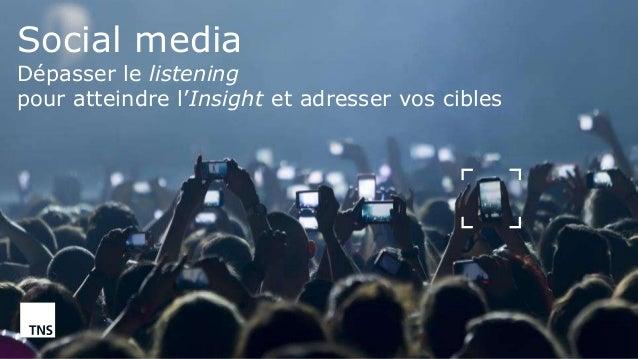 ©TNS 2015 Social media Dépasser le listening pour atteindre l'Insight et adresser vos cibles