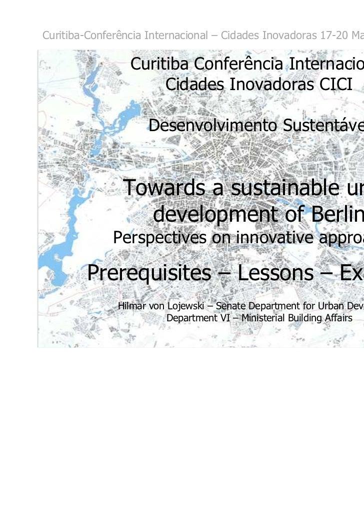 Hilmar Lojewski - Desenvolvimento Sustentável_CICI2011