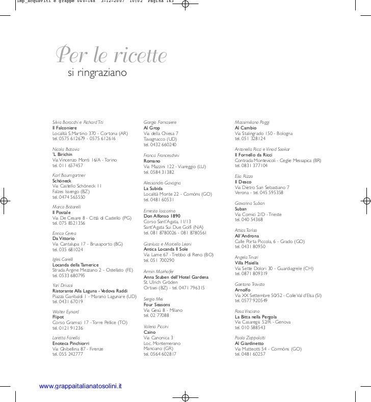 imp_acquaviti e grappe 040-168        3-12-2007      10:02     Pagina 163             Per le ricette                     s...
