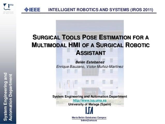 SystemEngineeringand AutomationDepartment María Belén Estebanez Campos belen@uma.es System Engineering and Automation Depa...