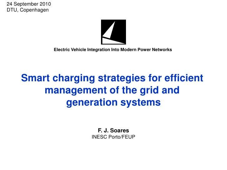 24 September 2010 DTU, Copenhagen                         Electric Vehicle Integration Into Modern Power Networks         ...