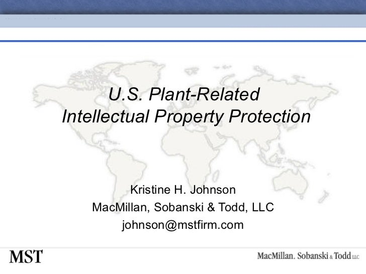11-U.S. Plant-Related Intellectual Property Protection