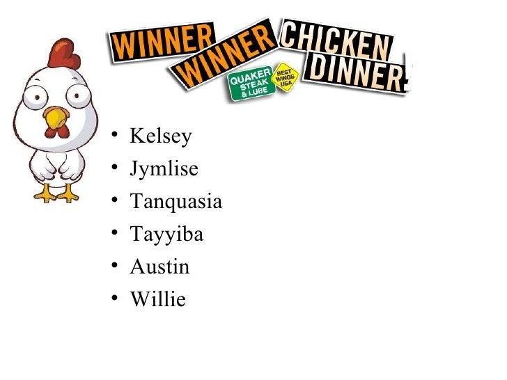 <ul><li>Kelsey </li></ul><ul><li>Jymlise  </li></ul><ul><li>Tanquasia </li></ul><ul><li>Tayyiba </li></ul><ul><li>Austin <...
