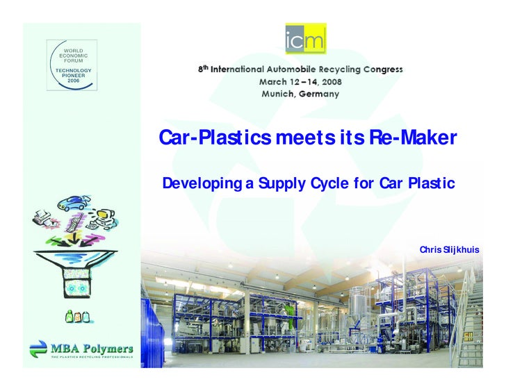 Car-Plastics meets its Re-Maker  Developing a Supply Cycle for Car Plastic                                        Chris Sl...