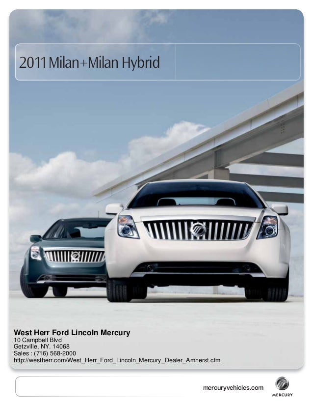 2011 Mercury Milan Hybrid West Herr Ford Lincoln Mercury, NY
