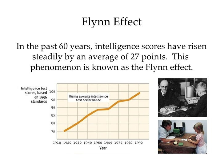 changes are made in the norms of iq tests due to the flynn effect As measured by standard tests, does change over time—that iq scores are flynn effect (flynn and is likely due to changes in content test sequence.