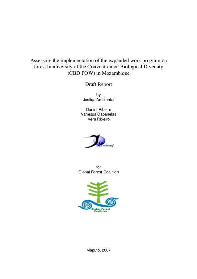 Assessing the implementation of the expanded work program on  forest biodiversity of the Convention on Biological Diversit...