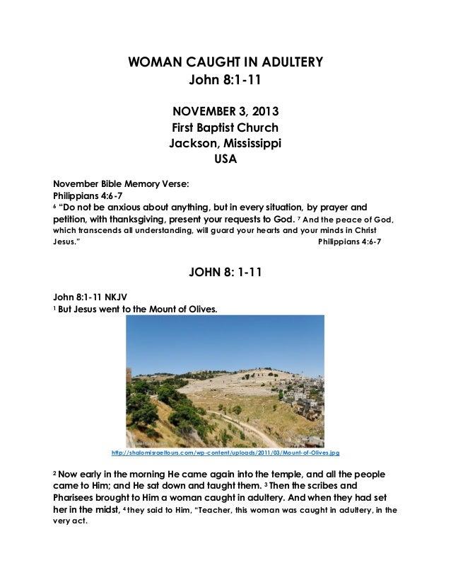 11 November 3, 2013, john 8:1-11 Woman Caught In Adultery