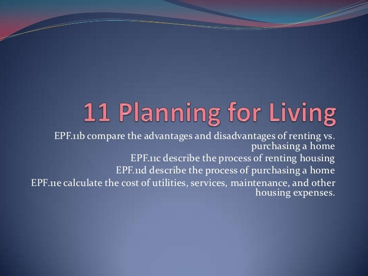 11 planning for living