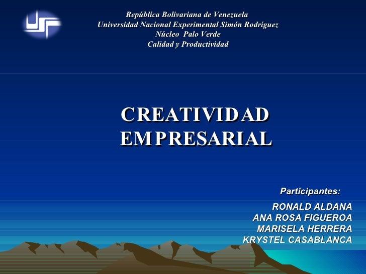 República Bolivariana de Venezuela  Universidad Nacional Experimental Simón Rodríguez Núcleo  Palo Verde Calidad y Product...