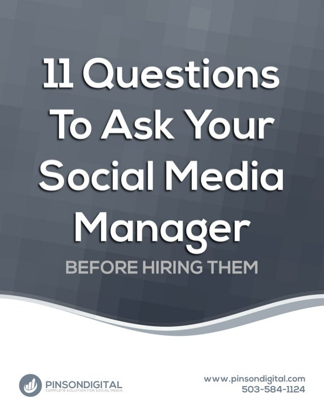 I recently came across an article on socialmediatoday.com that suggested that any company looking to hire a social media m...