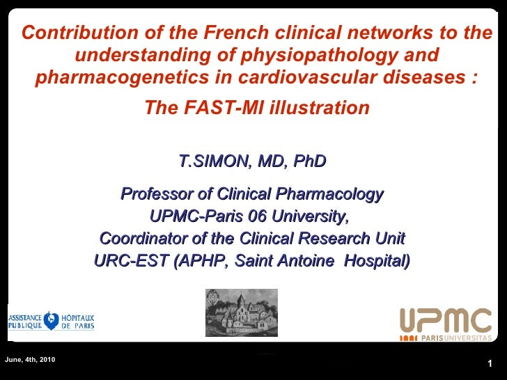 Contribution of the French clinical networks to the understanding of physiopathology and pharmacogenetics in cardiovascula...