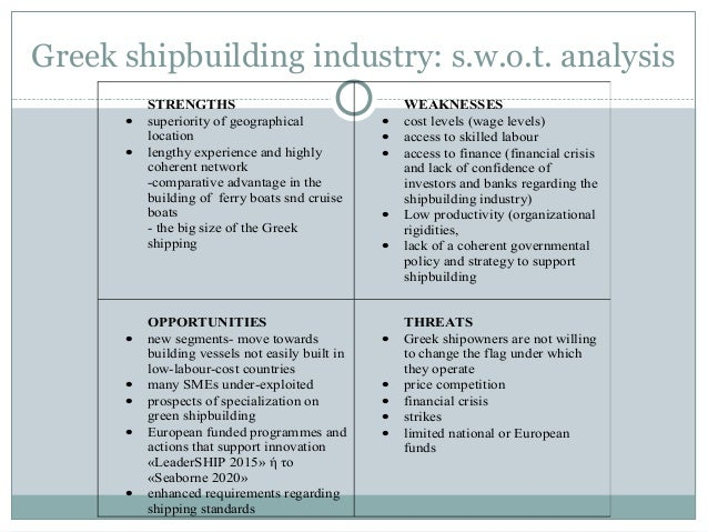 swot of shipping industry Shipping sector analysis report [key points |  the shipping industry is impacted by numerous short term and regional factors such as political fallouts, weather changes, etc this could.