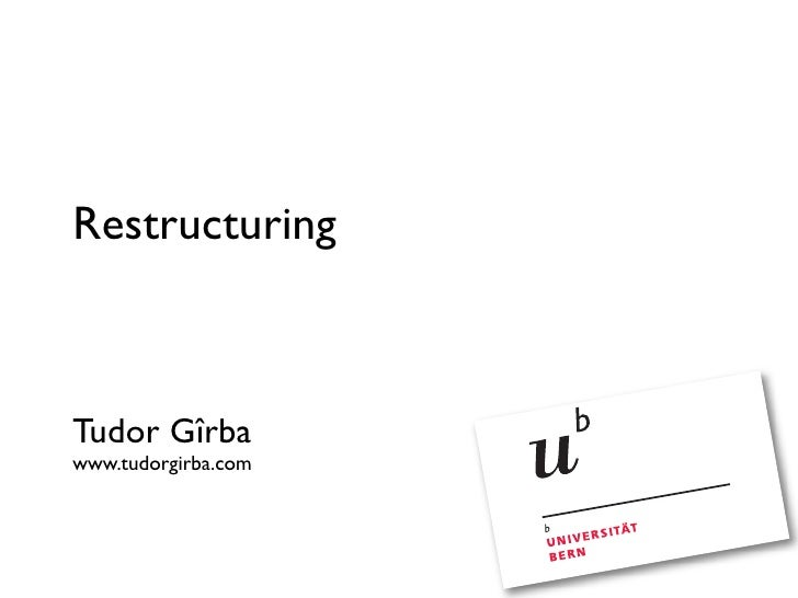 Restructuring (EVO 2008)
