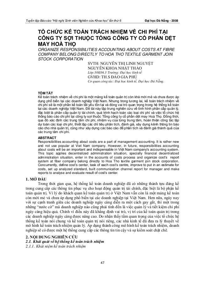 """Tuyển tập Báo cáo """"Hội nghị Sinh viên Nghiên cứu Khoa học"""" lần thứ 6              Đại học Đà Nẵng - 2008        TỔ CHỨC KẾ..."""