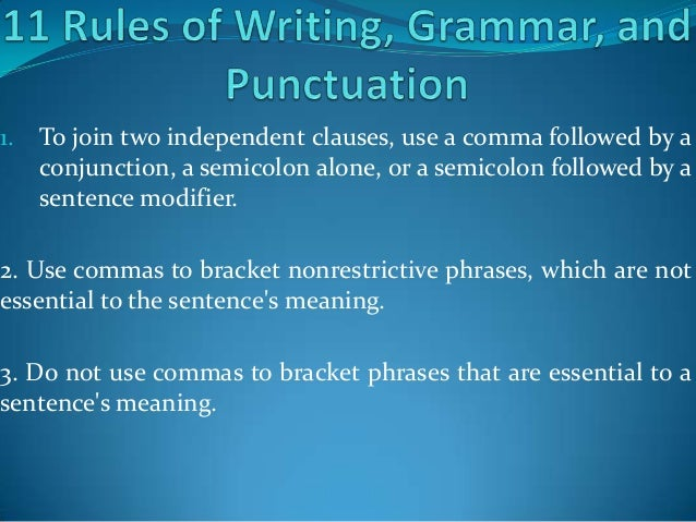 grammar in writing