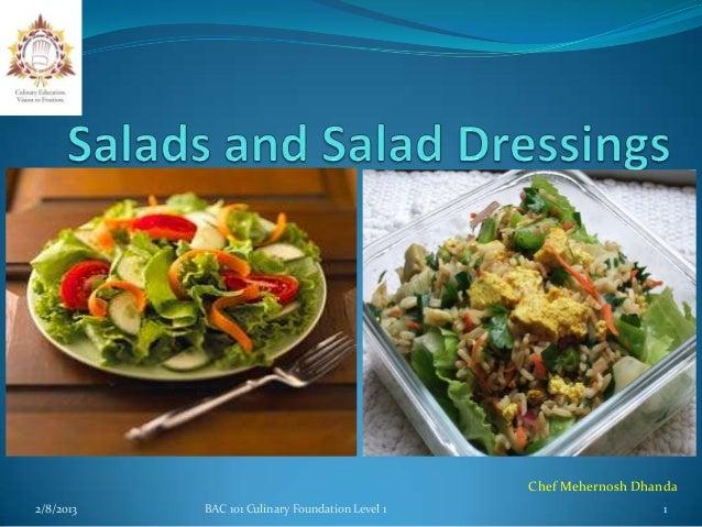 Chef Mehernosh Dhanda2/8/2013   BAC 101 Culinary Foundation Level 1                      1