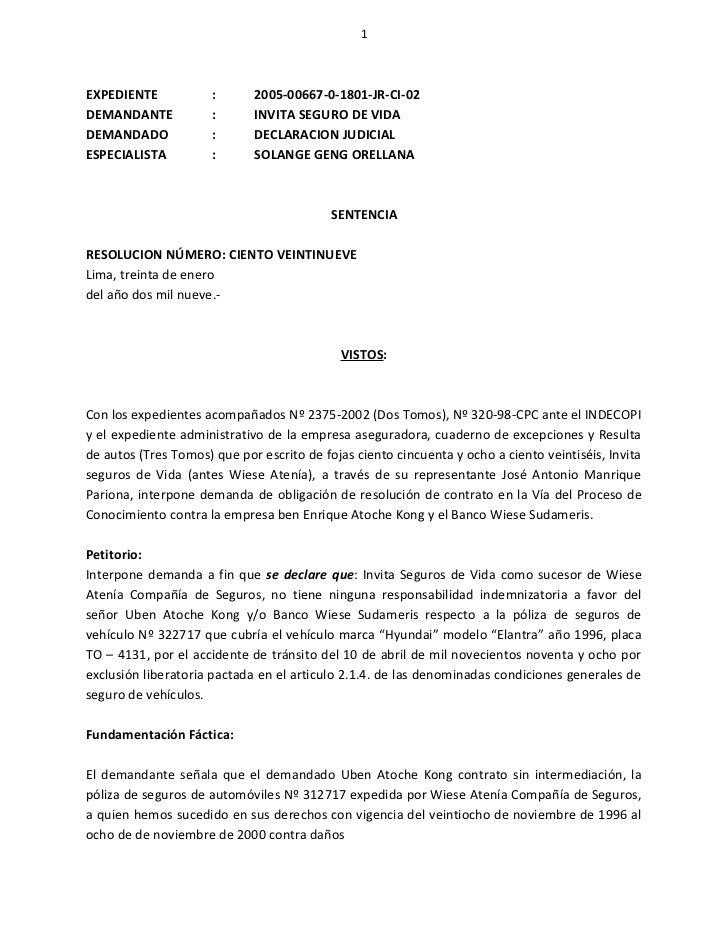 1EXPEDIENTE            :      2005-00667-0-1801-JR-CI-02DEMANDANTE            :      INVITA SEGURO DE VIDADEMANDADO       ...