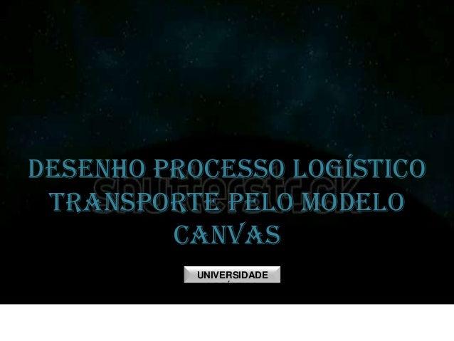 DESENHO PROCESSO LOGÍSTICO TRANSPORTE PELO MODELO CANVAS UNIVERSIDADE LOGÍSTICA