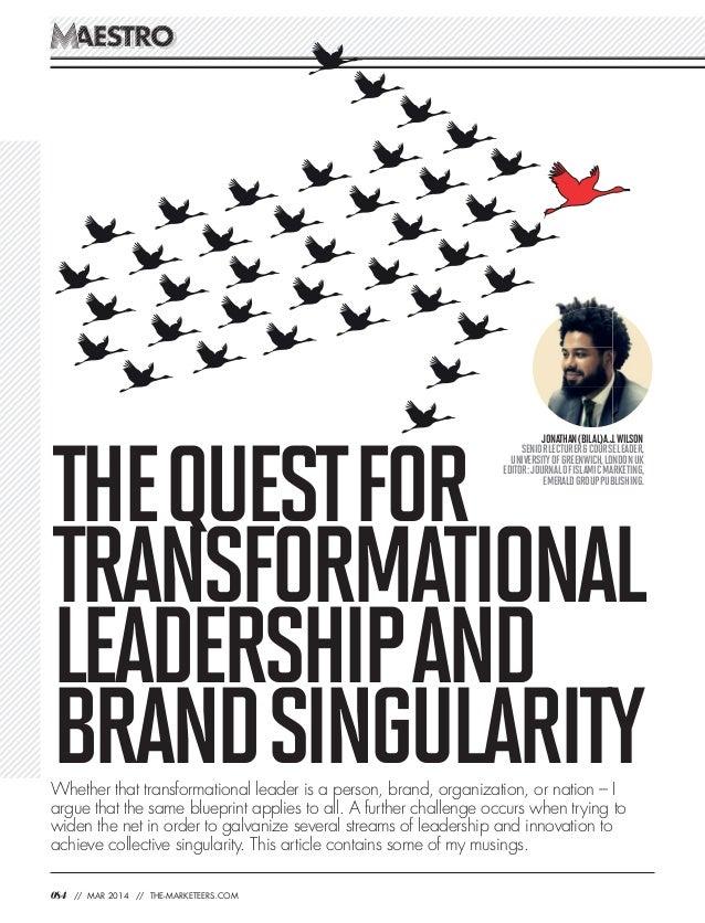 Transformational Leadership and Brand Singularity