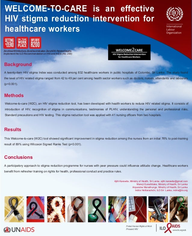 "HIV stigma and discrimination reduction tool ""welcome2care"""