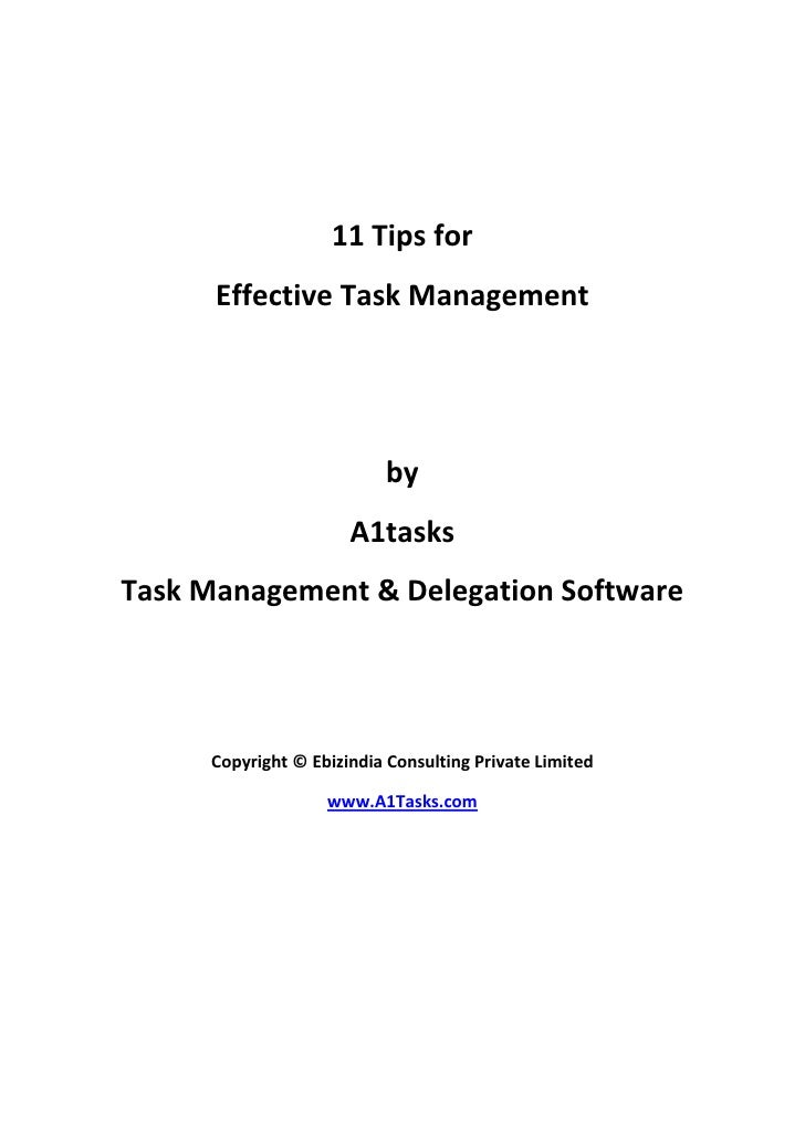 11 tips for effective task management