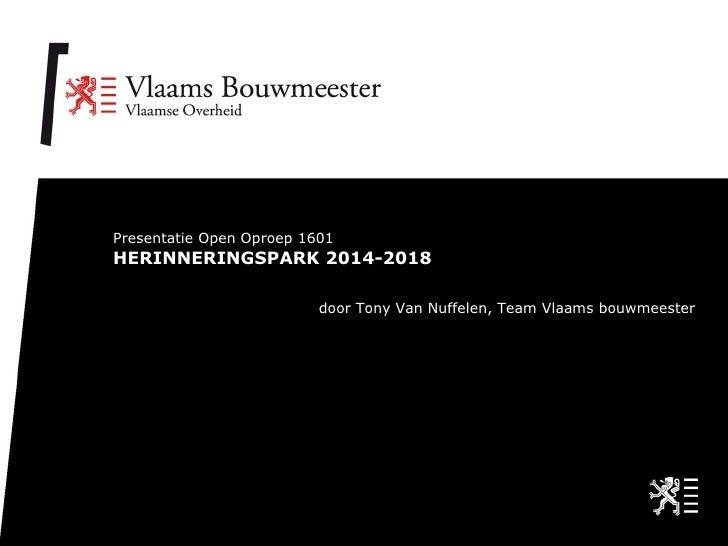 Herinneringspark 2014-2018 (Tony Van Nuffelen)