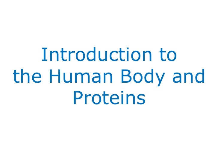 Introduction to the Human Body and Proteins
