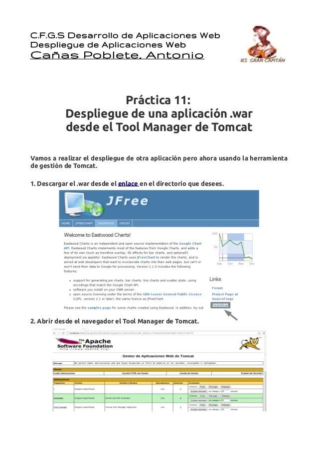 C.F.G.S Desarrollo de Aplicaciones WebDespliegue de Aplicaciones WebCañas Poblete, Antonio                     Práctica 11...