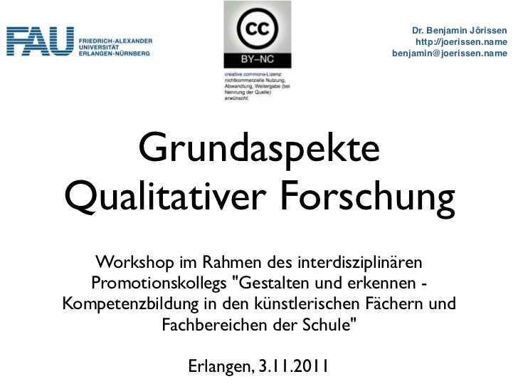 Workshop: Grundaspekte qualitativer Forschung