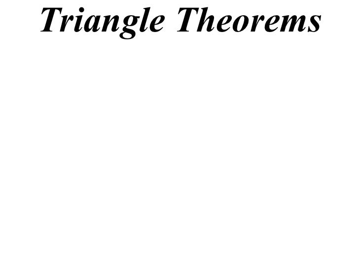 Triangle Theorems